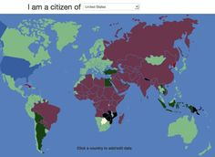 visaVisaMapper Is A Magical Map Where You Can See Which Countries Require Visas To Visit
