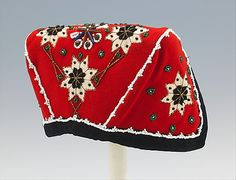 Cap Date: 18951905 Culture: Norwegian Medium: wool linen glass metal Dimensions: 8 in. cm) Credit Line: Brooklyn Museum Costume Collection at The Metropolitan Museum of Art Gift of the Brooklyn Museum Gift of Florence Starr 1915 Accession Number: Folk Costume, Costumes, Costume Ideas, Norwegian Clothing, Mobile Art, Costume Collection, Color Shapes, Everyday Dresses, Metropolitan Museum