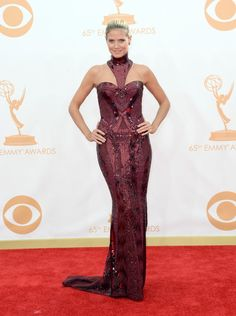 Fabulously Spotted: Heidi Klum Wearing Atelier Versace - 2013 Primetime Emmy Awards - http://www.becauseiamfabulous.com/2013/09/heidi-klum-wearing-atelier-versace-2013-primetime-emmy-awards/