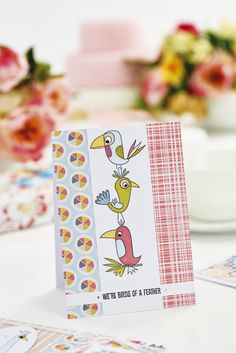 Make this quirky bird card in our April issue, out now! Pic: cliqq.co.uk