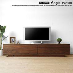 Angle-TV200D ウォールナット無垢材をぜいたくに使用したTVボード!赤外線リピーター付なので無垢材の扉をしめたままリモコン操作が可能です