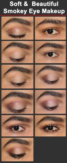 Soft & Beautiful Smokey Eye Makeup Tutorial