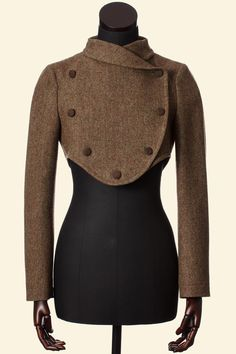 Moss Fine Herringbone Tweed Lola Jacket Walker Slater Tweed Specialists