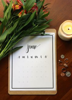 Free Printable Calendar 2015 by Chantel Emma 2015 Calendar Printable, Cute Calendar, Calendar Ideas, 2016 Calendar, My Funny Valentine, Getting Organized, Paper Goods, Free Printables, Projects To Try