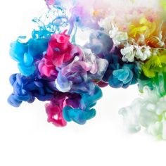 Aesthetic Colored Abstract Ink Explosions