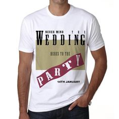 #tshirt #party #wedding #anniversary #men  Become the life of the party with these tees! Available online --> https://www.teeshirtee.com/collections/wedding-party-collection/products/14th-january-surf-surfing-t-shirt-mens-short-sleeve-rounded-neck-t-shirt