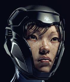 SciFi Girl, Cesar Zambelli on ArtStation at https://www.artstation.com/artwork/scifi-girl-e7b3cd47-9de2-4d33-8071-c6840c2de6c5