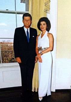 "jacquelinekennedys: ""JFK and Jackie Kennedy at the White House in the Yellow Oval Room. March 28, 1963. """