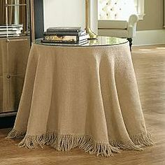 Mantel de arpillera sin costura