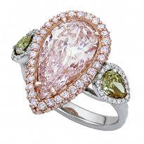 Rahaminov's diamonds Interesting combinations of stone.  Pink diamond, white diamond and green peridot