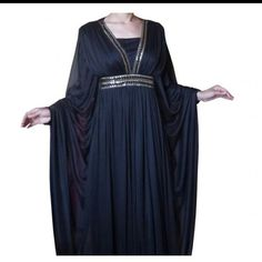 Long Moroccan Arabic Black Evening Kaftan Dress Abaya Jilbab Designer Style Eid | eBay