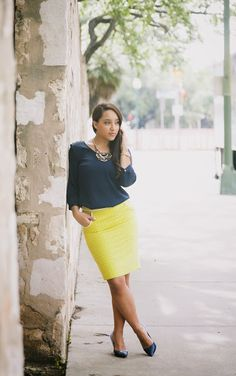 Blue & Yellow Color Combination - Work Week Chic