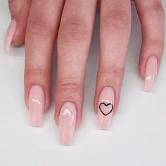 Acrylic Nails Coffin Short, Pink Acrylic Nails, Gel Nails, Pink Toe Nails, Fancy Nails, Glitter Nails, Heart Nail Designs, Acrylic Nail Designs, Fake Nails With Glue
