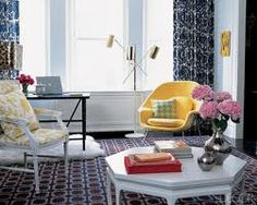 Jonathan Adler used a Scalamandre linen floral with wild abandon in Jane Wagman's apartment, as seen in Elle Decor, May 2005 imagesCAO0DTWC.jpg