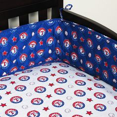 Texas Rangers MLB Micro Fiber Crib Bumper #SportsCoverage #TexasRangers