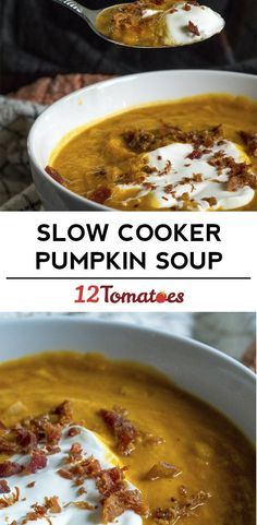 ***Slow Cooker Pumpkin Soup