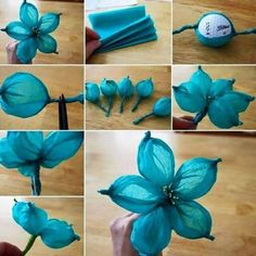 DIY Paper Flower Tutorial Step By Step Instructions for making crepe paper roses, lilies and marigold flowers. Hand made decorative flowers :) Here is the Inspirational Monday on diy flower series – DIY Crate Paper! This week is about making crate paper Tissue Paper Crafts, Diy Paper, Paper Art, Papel Tissue, Tissue Paper Decorations, Wedding Decorations, Paper Garlands, Paper Streamers, Hanging Decorations