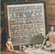 C. 1805 Early American Primitive Alphabet by BissonnetteDryGoods, $2.50