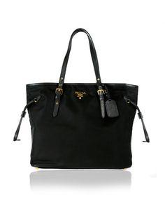 be9003405da0 PRADA Black Tessuto Large Shopping Tote Bag $950 http://www.boutiqueon57.