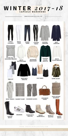 My Winter Capsule Wardrobe + a FREE Capsule Edit Worksheet - The Calm Collective wardrobe closet capsule wardrobe holiday outfits packing Winter Capsule Wardrobe For 2017 and 2018 - The Calm Collective Capsule Outfits, Fashion Capsule, Mode Outfits, Fashion Outfits, Womens Fashion, Fashion Trends, Capsule Wardrobe Winter, Winter Wardrobe Essentials, Fashion Fashion