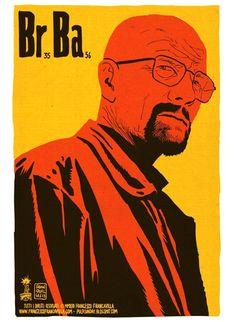 Breaking Bad minimal posters by  Francesco Francavilla