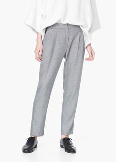 Pantalon à pinces - Pantalons pour Femme | MANGO