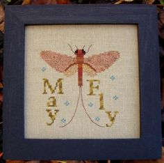 Mayfly cross stitch design  by Turquoise Graphics & Designs #pattern #chart