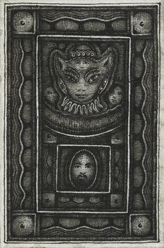 cavinmorrisgallery:  Huston RipleyUntitled, 2014Ink on Japanese paper4.72 x 3.15 inches12 x 8 cmHuR 37 http://www.cavinmorris.com