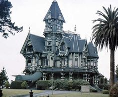 A Queen Anne Victorian style...you know, turrets and secret passages...