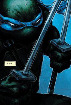 """""""Blue..."""" (Batman/Teenage Mutant Ninja Turtles #1)"""