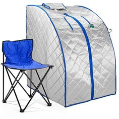 Durasage Infrared IR Far Portable Indoor Personal Spa Sauna with Heating Foot Pad and Chair, X-Large, Silver Portable Infrared Sauna, Portable Steam Sauna, Sauna Kits, Tent Reviews, Home Spa Treatments, Sauna Room, Foot Pads, Chair Pads, Folding Chair