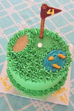 Golf cake for my boy
