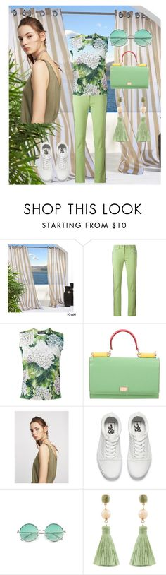 """""""Colored pants"""" by mexarchopoulou ❤ liked on Polyvore featuring Etro, Dolce&Gabbana, Vans and Atelier Mon"""
