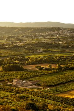 Looking over the Luberon Valley in the south of France.