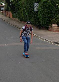 a boy is skating Penny Skateboard, Skating, Running, Boys, Sports, Baby Boys, Hs Sports, Roller Blading, Keep Running
