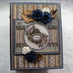 TPHH Sharon Chipboard PREMADE Heartfelt Creations Scrapbook Photo Album ~Video #HeartfeltCreationsRareCollection