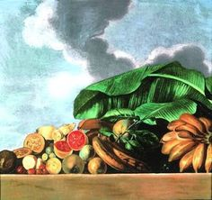 """""""Ananas, goiaba e outras frutas"""" olio su tela Albert Eckhout (Groningen 1610 - National Museum of Denmark Albert Eckhout, Vintage Black, Vintage Art, Dream Pictures, Forms Of Communication, Tropical, Western Art, National Museum, Still Life"""
