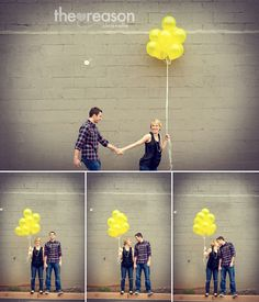 cute couple with balloon
