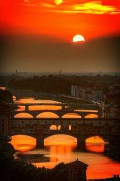 美しい風景(@beautiful_img)さん | Twitterフィレンツェの日没 - イタリア