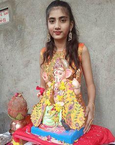 "krisha.14.7 💫 on Instagram: ""#krishashilodre #ganpatibappamorya_ #missyoubappa #yesterdaypic"" College Girl Image, College Girls, Girls Image, Indian Girls, Lily Pulitzer, Kids, Instagram, Dresses, Fashion"