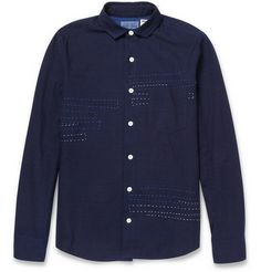 Blue Blue Japan Regular-Fit Sashiko Cotton Shirt | MR PORTER
