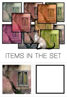 """Kitty Wants In"" by sjlew ❤ liked on Polyvore featuring art"