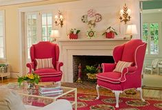 Rhode Island summer home designed by Kelley Interior Design: brigh & bold colors are my weakness