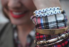 I first saw these Ryan Porter bracelets on Pinterest. They are a fun and contemporary twist on the friendship bracelets you'd make for your friends in elementary school. I love the grown-up t…