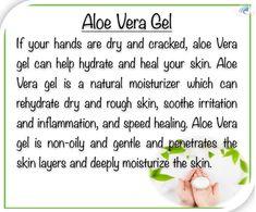 Aloe Vera for hands Natural Moisturizer, Dry Hands, Aloe Vera Gel, Beauty Hacks, Remedies, Skincare, Healing, Education, Tips