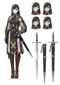 37 ideas for design character female fantasy Female Character Concept, Fantasy Character Design, Character Inspiration, Character Art, Character Sheet, Fantasy Anime, Fantasy Armor, Fantasy Girl, Fantasy Characters