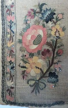 This Pin was discovered by EMI Palestinian Embroidery, Hungarian Embroidery, Embroidery Works, Embroidery Stitches, Hand Embroidery, Embroidery Designs, Turkish Art, Textiles, Thread Art