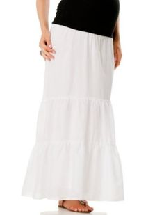 A Pea in the Pod: Under Belly Full Length Tiered Maternity Skirt A Pea in the Pod. $39.99