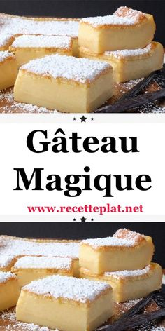 Gâteau magique The magic cake is a pastry prepared from a single preparation and which, after baking, gives three different textures, a flan, a cream and an aerated sponge cake. We offer this easy dessert recipe that will delight your guests. Tiramisu Dessert, Desserts To Make, Vegan Desserts, Vegan Recipes, Torrone Recipe, Deutsche Desserts, Cheesecake Recipes, Dessert Recipes, Kolaci I Torte
