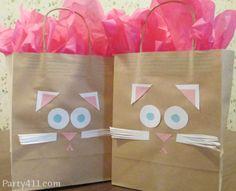 Diy Kitten Favor Bags Party Birthday Favors